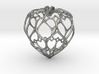 Filigree Round Drop Pendant 3d printed