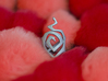 Swirl ring size 7 3d printed front