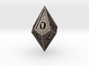 Hedron D10: Closed (Hollow), balanced gaming die 3d printed