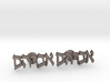 "Hebrew Name Cufflinks - ""Avraham"" 3d printed"