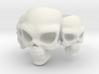 Skull Ring 'Trinity'  3d printed