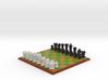 3D Pixel Chess Set - PC Game 3d printed
