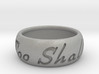 This Too Shall Pass Size ring size 10 1/2 3d printed