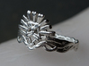 Cersei's Crown Ring 3d printed Ring, size 10,  printed in polished silver
