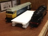 N gauge platforms textured, seamless joints with e 3d printed