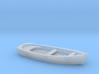 CLASSIC Skiff Boat HO Scale 3d printed