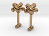 Overhand knots cufflinks 3d printed