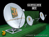 Satellite dish (30+60mm) - set 3d printed Satellite dish set (2x30mm+60mm)