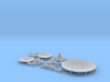 Satellite dish (30+60mm) - set 3d printed