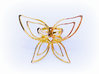Butterfly double ring -Anello Farfalla 3d printed