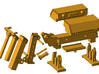 1/87th Tow Truck Fifth Wheel Wrecker 3d printed Toolbox version shown, but should help assembly