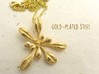 Large Arabidopsis Rosette pendant 3d printed Arabidopsis pendant in gold-plated steel