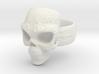 Elemental Skull Ring 'Lightning' 3d printed