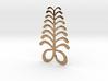 Adinkra Symbol of Eendurance - Flat Round Pendant 3d printed