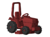 1/87 Scale Garden Tractor w-Mower 3d printed