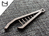 Industrial Bottle Opener 3d printed Polished Bronze Steel