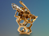 Western Honey Bee Ring 3d printed Featured Image: Polished Brass