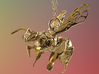 Western Honey Bee Pendant 3d printed Featured Image: 18K Gold Plated