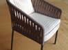 1:12 Chair no. 3 3d printed finished home-made product, painted and with cushion