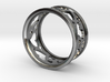 Cut-out Hearts - Repeating Pattern Ring 3d printed