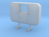 1:50 Cabinet headache rack with window 3d printed