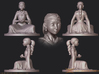 The Childlike Empress Lamp Statuette 10cm 3d printed detail