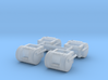 1/64th Mack R Model Round style tanks for 1st Gear 3d printed