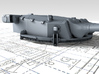 "1/350 Dunkerque 330 mm/50 (13"") Guns w. Blast Bags 3d printed 3d render showing Turret II detail"