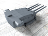 "1/400 Dunkerque 330 mm/50 (13"") Guns w. Blast Bags 3d printed 3d render showing Turret II detail"