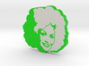 Dolly Parton in Green 3d printed