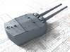 """1/128 HMS Vanguard MKI* 15"""" Turrets only 3d printed 3d render showing A Turret detail (Barrels NOT Included)"""