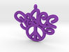 47-PEACE - CURLY-PEACE SIGN 3d printed