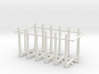 1/50th set of six straight truck log bunks 3d printed