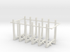1/64th set of six log truck or trailer bunks 3d printed