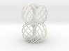 Double Spiral Torus 7/12, golden ratio 3d printed