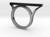 Asymmetric Bar Ring with Geometric Pyramid Pattern 3d printed