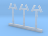 Smoke Jack Roof Vents S Scale 3d printed
