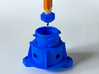 Panohero Foot with Hex Nuts 3d printed Insertion of nut