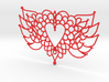 Flying Valentine Doily  3d printed
