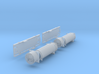 SET 2x Containertragwagen mit Müllcontainer (N) 3d printed