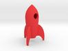 Funny tiny Rocket keychain 3d printed
