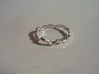 Noise ring (US sizes 5.75 – 9.75) 3d printed Premium silver, size 13.0
