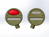 M4 Headlamp and Tail lamp set. 1:16th Scale 3d printed