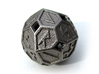 Elder Futhark Die24 3d printed In Polished Nickel Steel