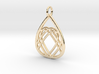 Mama's Milk Drop Pendant; Heart of Love 3d printed 14k Gold Plated