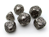 Art Nouveau Dice Set 3d printed In Polished Nickel Steel