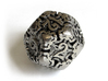 Art Nouveau d12 3d printed In Polished Nickel Steel and inked