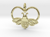 Bee pendant bumblebee necklace heart 3d printed