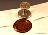 Gear Wax Seal 3d printed Steampunk Gear wax seal and impression.