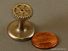 Gear Wax Seal 3d printed Gear wax seal - this is what Shapeways will send you, penny for scale